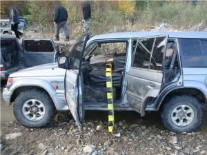 Una dintre maşinile confiscate