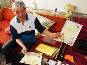 Alexandru Bucur din Lipăneşti, judeţul Prahova, a luptat toată viaţa pentru sănătatea sa