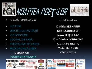 """""""Noaptea Poeţilor"""", la Talcioc Cultural"""