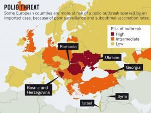 """O teribilă boală a trecutului, poliomielita, ameninţă Europa. """"România, grad mare de risc"""", anunţă experţii"""