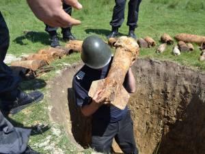 Cele mai multe dintre elementele de muniţie care se găsesc în judeţ sunt încă active