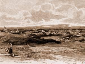 Suceava – desen de Rudolf Bernt (1844-1914)