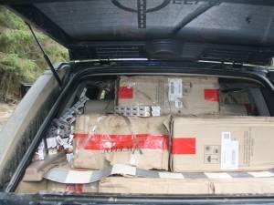 Aproape 20.000 de pachete de ţigări de contrabandă, confiscate la graniţa româno-ucraineană