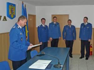 Patru ofiţeri şi şase subofiţeri jandarmi, înaintaţi în grad înainte de termen