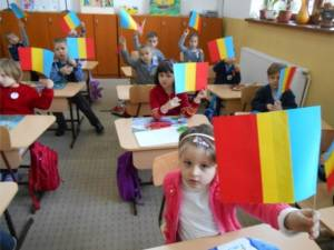 """Lecţii de patriotism la Şcoala """"Al.I. Cuza"""" din Fălticeni"""