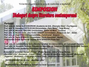 """""""Simpozion - Dialoguri despre literatura contemporană"""""""