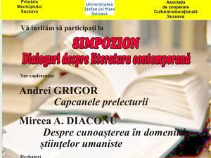 """""""Dialoguri despre literatura contemporană"""""""
