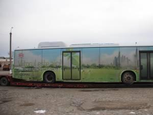 Un autobuz electric va circula joi pe străzile Sucevei