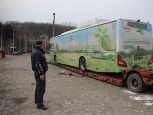 Autobuzul electric a ajuns ieri la Suceava