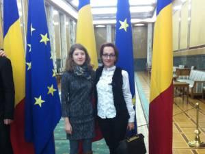 Iasmina Răceanu împreună cu prof. Mihaela Gabriela Ilisei