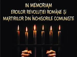 În memoria eroilor din decembrie 1989 şi a martirilor din închisorile comuniste