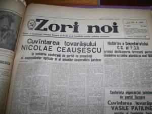 În loc de pastorală, sucevenii puteau citi de Crăciun despre realizările Partidului Comunist Român şi ale tovarăşului Nicolae Ceauşescu