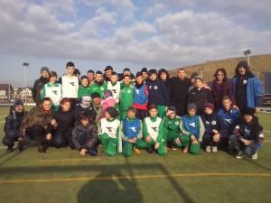 Copiii, părinţii şi antrenorii, la petrecerea de final a celor de la Sporting