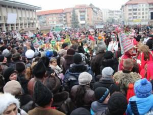 Furtul a avut loc în timpul spectacolului de datini din centrul Sucevei