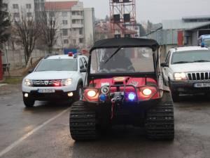 Autospeciala şenilată, în dotarea ISU Suceava