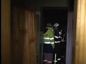 Apartamentul în care a izbucnit incendiul