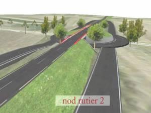 Proiectul sensului giratoriu cu şoseaua de centură care trece peste pilon