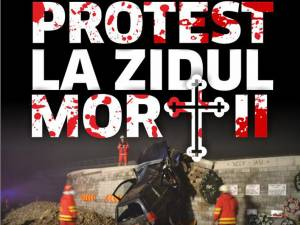 """Protest la """"Zidul Morţii"""", vineri seară, anunţat la Primăria Şcheia şi Jandarmerie"""