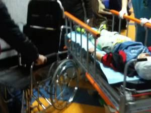 Minorul a fost lovit de una din porţile de pe terenul de sport