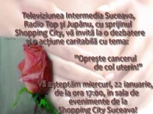 """""""Oprește cancerul de col uterin!"""", acţiune umanitară, astăzi, la Shopping City"""