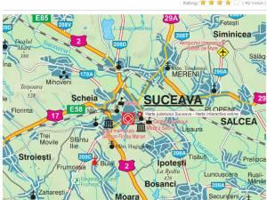 Harta interactivă de la Prefectura Suceava