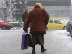 Poleiul format zilele trecute pe străzile şi trotuarele din Suceava
