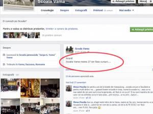 Postările profesoarei din Vama au fost şterse luni, după ce directorul unităţii a fost informat asupra acestui aspect