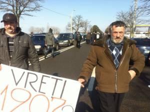 Scandal la PTF Siret. Protest cu peste 100 de persoane în faţa vămii