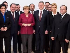Flutur şi Balan au făcut parte  din delegaţia liderilor naţionali ai PDL care s-a întâlnit cu Angela Merkel