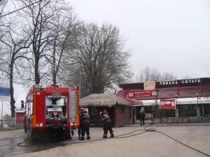 Incendiu la acoperişul restaurantului Admiral Cetate