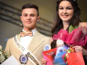 """Constantin Gabriel Lupu şi Ana Maria Covaliu, câştigătorii concursului judeţean """"Miss & Mister Bucovina"""""""