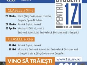 """USV organizează a VII-a ediţie a concursului pentru liceeni """"Student pentru o zi"""""""