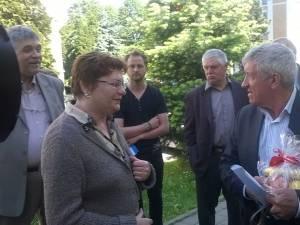 Mircea Diaconu cu simpatizanţii săi la Suceava