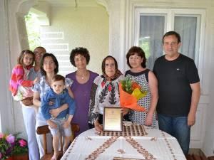 Elena Toderaş, aniversată la împlinirea unui secol de viaţă