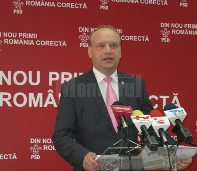 Senatorul PSD de Suceava Ovidiu Donţu, iniţiatorul amendamentelor