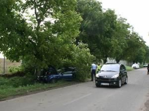 Accidentul s-a petrecut pe drumul care leagă localitatea Moara de municipiul Suceava