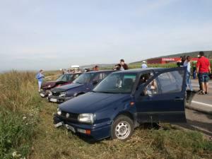 Patru maşini implicate într-un accident în lanţ la intrarea în municipiul Suceava