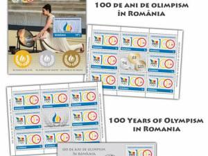 """Emisiunea de mărci poştale """"100 de ani de olimpism în România"""""""
