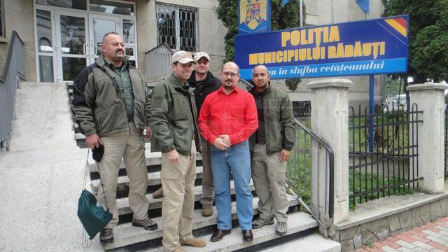 Oaspeţi americani, în vizită la Poliţia municipiului Rădăuţi