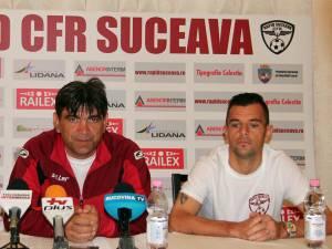 Antrenorul Bogdan Tudoreanu şi căpitanul Dorin Semeghin sunt optimişti înaintea meciului de la Bacău