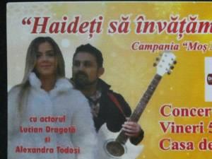 Concert umanitar de colinde la Sala Mică a Casei de Cultură Suceava