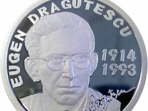 Monedă din argint dedicată aniversării a 100 de ani de la naşterea lui Eugen Drăguțescu