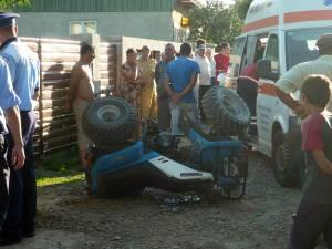 Ucigaşul l-a călcat intenţionat cu ATV-ul pe un bătrân de 75 de ani până când acesta a decedat