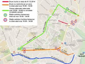 Restricţii rutiere în Suceava, de Ziua Naţională