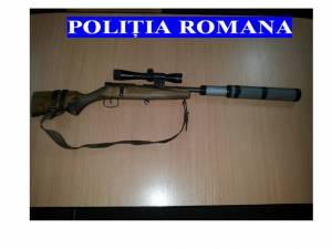 Arma de vânătoare confiscată