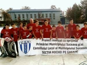 Echipa sub 12 ani a CSM Suceava a început noul sezon pe gheață