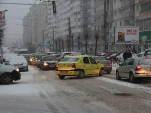 Zăpadă în municipiul Suceava, pe 2 decembrie