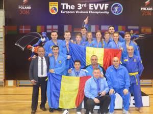 Lotul României din care au făcut parte și sportivii suceveni Sorin Râmbu și Adrian Ilioaia, dar și antrenorul Gheorghe Pricop a reușit să câștige 12 medalii și bronzul pe națiuni la europene
