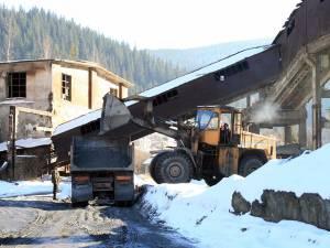 Concasarea minereului pentru extracţia cuprului