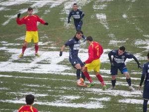 În ciuda terenului îngheţat, fotbaliştii suceveni au prestat un joc consistent, care i-a dus către victorie